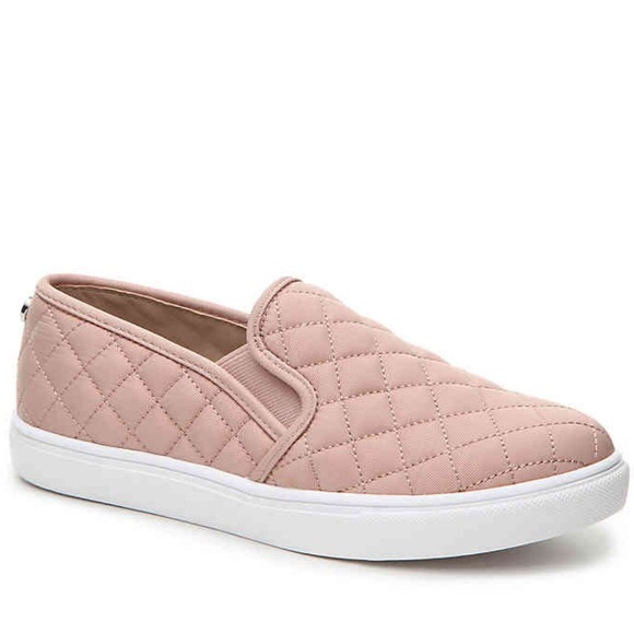 Steve Madden Pink Quilted Slip Ons